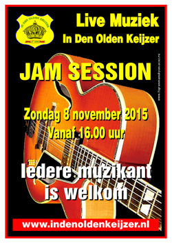 olde keijzer poster jam session nov 2015